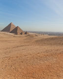 Front View of Great Pyramid Stock Image