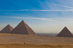 Front View of Great Pyramid Royalty Free Stock Images
