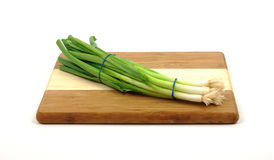 Front view green onions Royalty Free Stock Photo