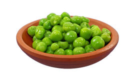 Front View Green Peas Stock Photo