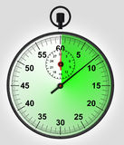 Front view on green running stopwatch Stock Photo