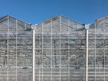 Front view of a greenhouse in The Netherlands Stock Image