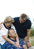 Front View Of A Happy Family Stock Photo