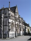 Front view of Hautecombe Monastery. Front view of Abbey of Hautecombe Lac Bourget, Aix Les Bains, Haute Savoie - Carthusian monastery founded in 1285 royalty free stock photos