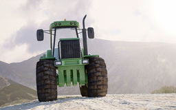 Front view of a heavy duty tractor Royalty Free Stock Photography