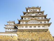 Front view of Himeji castle Royalty Free Stock Photo