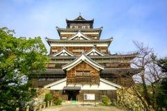 Front View Hiroshima Castle, Japón imágenes de archivo libres de regalías