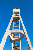 Front view of historic hoist tower Stock Photos