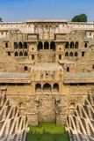 Front view of the historic step well in Abhaneri