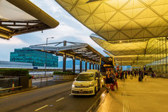 Front view of Hong Kong International Airport Royalty Free Stock Images