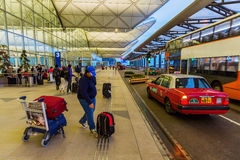 Front view of Hong Kong International Airport Stock Images