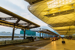 Front view of Hong Kong International Airport Stock Image