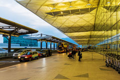 Front view of Hong Kong International Airport Stock Photos