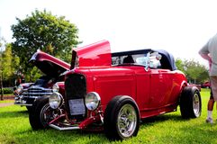 Front view of horseless carriage Royalty Free Stock Photography