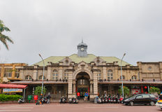 Front view of hsinchu railway station Royalty Free Stock Photos