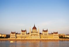 Front view of Hungarian Parliament Royalty Free Stock Photo