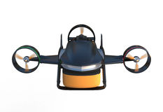 Front view of a hybrid drone which have 2 mode to fly. lift up vertically and flying in horizon Stock Photo