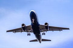 Airplane ist landing Stock Image