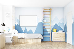 Front view of kid's room with table Stock Photo