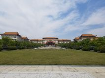 An Ancient Palace. A Front view of a Large Ancient Palace royalty free stock photos