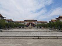 An Ancient Palace. A Front view of a Large Ancient Palace royalty free stock images