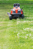 Front view of lawn mower Royalty Free Stock Photo