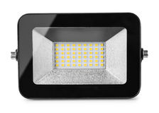 Front view of LED flood light Stock Images