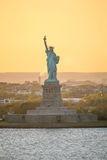 Front view of Liberty Statue Stock Photo