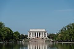 Front view of the Lincoln Memorial stock photos