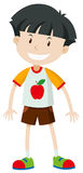 Front view of a little boy Stock Photos