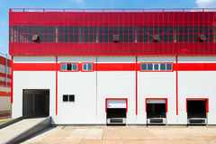 Front view of loading docks Stock Photos