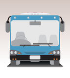 Front view of low floor city bus Stock Photos