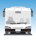 Front view of low floor city bus Royalty Free Stock Photography