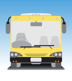 Front view of low floor city bus Stock Image