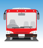 Front view of low floor city bus Royalty Free Stock Photos
