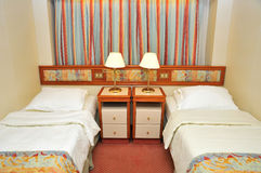 Front view of luxurious resort room Royalty Free Stock Photography