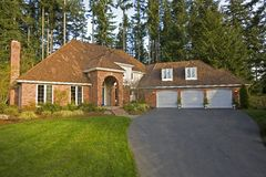 Front view of luxury house. Luxury house viewed from the front Stock Image