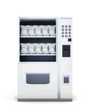 Front view machine for sale of snacks  on white backgrou Royalty Free Stock Images