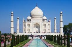 Taji mahal. Front view of the magnificient taj mahal. Agra, India. A representation of love royalty free stock images