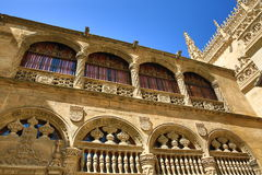 The front view of the main entrance of the cathedral of Granada, Spain Stock Photos