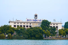 Front view of the main Post Office in Hanoi, Vietnam Stock Images