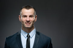 Front view of manager in suit with tie stock photo