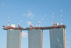 Front view of Marina Bay Sands Stock Image