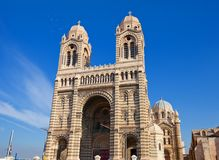 Front view of Marseilles Cathedral (XIX c.) Royalty Free Stock Photography