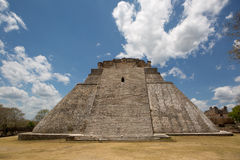 Front view of a Mayan pyramid Royalty Free Stock Photo