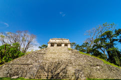 Front View of Mayan Temple Royalty Free Stock Images