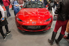 Front view of Mazda MX 5 Miata convertible car on Belgrade car show 2016 Stock Photography