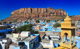 Front view of the mehrangarh fort in jodhphur. Rajasthan,india Stock Photo