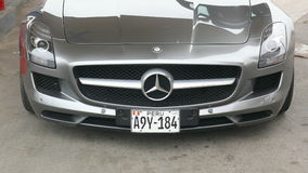 Front view of a Mercedes Benz SLS AMG 6.3 Royalty Free Stock Photography