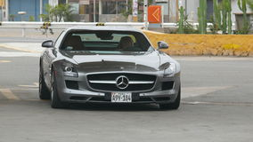 Front view of a Mercedes Benz SLS AMG 6.3 Stock Images